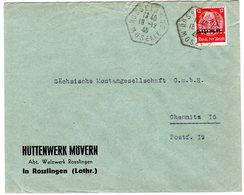 Dt. Besetzung Lothringen; Bedarfsbrief Mit Perfin Und Altfranz. Stempel - Besetzungen 1938-45