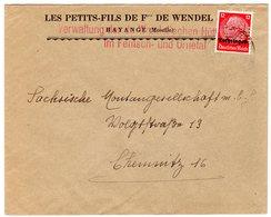 Dt. Besetzung Lothringen; Bedarfs-Brief Mit Perfin - Besetzungen 1938-45