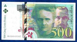 BILLET 500FR CURIE 1994 - 1992-2000 Dernière Gamme