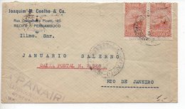 Brésil : Lettre Par Avion De 1934 De Pernambuco Pour Rio De Janeiro Via PANAIR - Luchtpost