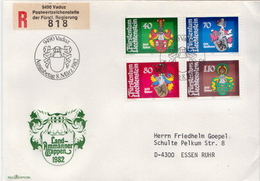 Postal History Cover: Liechtenstein Used Registered FDC - Covers