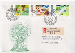 Postal History Cover: Liechtenstein Used Registered FDC - Other