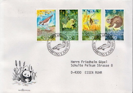 Postal History Cover: Liechtenstein Used FDC - Stamps