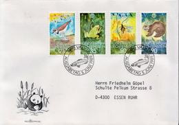 Postal History Cover: Liechtenstein Used FDC - Postzegels