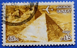 EGYPT AIR MAIL 45 M 1978 PYRAMID - USED - Egypt