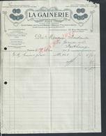 FACTURE ILLUSTRÉE DE 1913 LA GAINERIE GELLÉE FRÉRES A PARIS RUE BARBETTE : - France