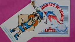 CHAMPIONNATS DU MONDE DE LUTTE Août 1987 - CLERMONT FERRAND (2 Autocollants Et 1 Pin's) - Lucha