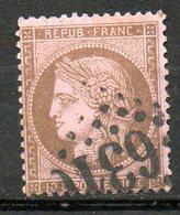 FRANCE - 1873 - Emission Dutype Cérès , IIIème République - N° 58 - 10 C. Brun Sur Rose - 1871-1875 Ceres