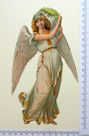 GRAND FORMAT CHROMO  DECOUPI....ANGE AVEC UNE PALME - Angels