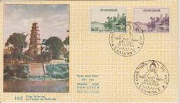 Vietnam FDC 1959 Pagode 110-111 - Viêt-Nam