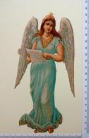 GRAND FORMAT CHROMO  DECOUPI....ANGE AVEC UNE PARTITION DE MUSIQUE - Angels