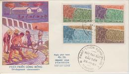 Vietnam FDC 1959 Développement Communautaire 122-125 - Viêt-Nam