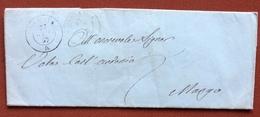 GOVONE + S.DAMIANO + ALBA SU LETTERA COMPLETA DI TESTO DEL 27/1/57 - ...-1850 Préphilatélie