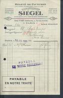 FACTURE ILLUSTRÉE ORLOGERIE BRACELETS STAR ECT DE 1921 SIÉGEL & AUGUSTIN A PARIS RUE RÉAUMUR : - France