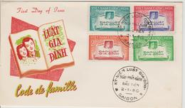Vietnam FDC 1960 Code De La Famille 130-133 - Viêt-Nam
