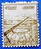 EGYPT 80 M 1978 BRIDGE ON SUEZ CANAL - USED - Egypt