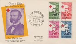 Vietnam FDC 1960 Croix Rouge 138-141 - Viêt-Nam
