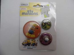Lots De 3 Badge Minions - Autres Collections