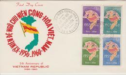 Vietnam FDC 1960 Anniversaire De La République 146-149 - Viêt-Nam