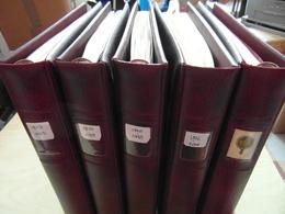 LOT De 5 RELIURES LINDNER + FEUILLES FRANCE 1978 - 2001 PRÉ-IMPRIMÉES (TAXE PREO SERVICE PA CARNETS) - Albums & Reliures