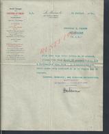 LETTRE COMMERCIALE DE 1913 PAPETERIES DU MARAIS & DE SAINTE MARIE PAR JOUY SUR MORIN : - France
