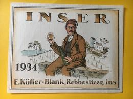 8932 - Inser 1934 E,Küffer-Blank Ins  Suisse - Etiketten