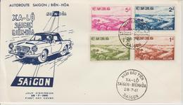 Vietnam FDC 1961 Inauguration De L'Autoroute 169-172 - Viêt-Nam