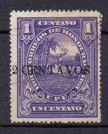 HONDURAS (  POSTE ) : Y&T N°  122  TIMBRE  BIEN  OBLITERE . - Honduras