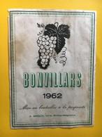 8934 - Bonvillars 1962 A.Groux Bioley-Magnoux Suisse - Etiketten