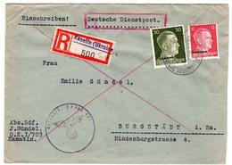 """Dt. Besetzung Ukraine; Einschreibbrief """"Kasatin"""" (Durch Dt. Dienstpost) - Besetzungen 1938-45"""