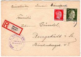 """Dt. Besetzung Ukraine; Einschreibbrief """"Winniza"""" Durch Dt. Dienstpost.  - Besetzungen 1938-45"""