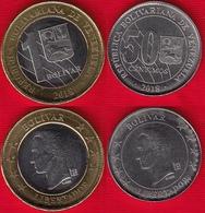 Venezuela Set Of 2 Coins: 50 Centimos - 1 Bolivar 2018 UNC - Venezuela
