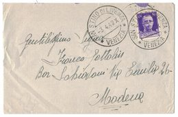 AI135  Regno 1942 Lettera Con Annullo SAN STINO DI LIVENZA (VE) X Modena 50c Imperiale - Storia Postale