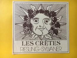 8936 - Riesling.Sylvaner Les Crêtes & Fendant Pampero Clos De Signièse Suisse Soleil  2 étiquettes - Etiquettes