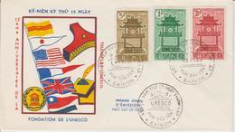 Vietnam FDC 1961 Unesco 181-183 - Viêt-Nam