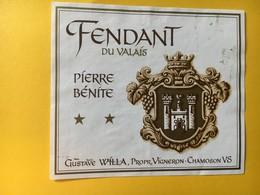 8938 - Fendant Pierre Bénite Gustave Willa Chamoson Suisse - Etiketten
