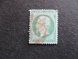 A). TB N°20 , Oblitéré : Cachet Rouge. - 1862 Napoleon III