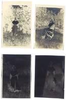 4 Négatifs Anciens , Femme Costumée En Arlésienne, Arles, Provençale, Folklore - Photos