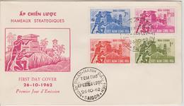 Vietnam FDC 1962 Hameaux Stratégiques 200-203 - Viêt-Nam