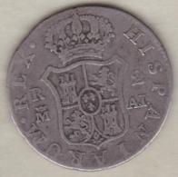 2 Reales 1808 AI  Carolus IV, KM#430.1 En Argent - [ 1] …-1931 : Royaume