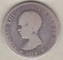1 Peseta 1889 MP.M. Alfonso XIII En Argent - [ 1] …-1931 : Royaume