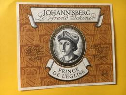 8940 - Johannisberg Le Grand Schiner Prince De L'Eglise  Suisse Prince Eveque De Sion - Etiketten