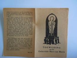 Image Pieuse Holy Card Santini  Toewijding Aan Het Onbevlekt Hart Van Maria Gebed Paus Pius XII 1942 - Images Religieuses
