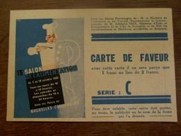 13 De.  Salon  De L' Alimentation  BRUX.   CENTENAIRE 1936 - Altri