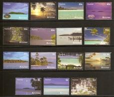 Aitutaki 2010 Yvertn° 603-617 *** MNH Cote 32 Euro Tourisme Vues De L' île - Aitutaki