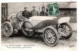Automobile De Course Mercedes Au Circuit De DIEPPE Salzer, Willy-Poëge Et Lautenschlager - Cartes Postales