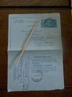 Aerogram  Naar Congo - Belge   Met Zegel 4fr  Belgie   1954 - Stamped Stationery