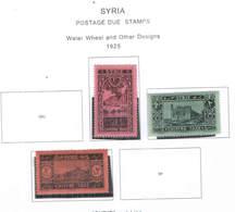 Syria Postage Due 1925 Water Wheel E ...Scott.J34+35+36 New See Scan On Scott.Page - Siria