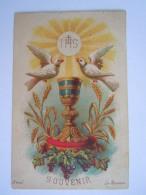 Communion 1882 Anvers Maria Wouters Image Pieuse Holy Card Santini Edit Bréval 6.4 X 10 Cm - Imágenes Religiosas