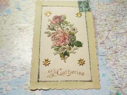 Bouquet De Fleurs Collé Sur Carte Postale - Saint-Catherine's Day